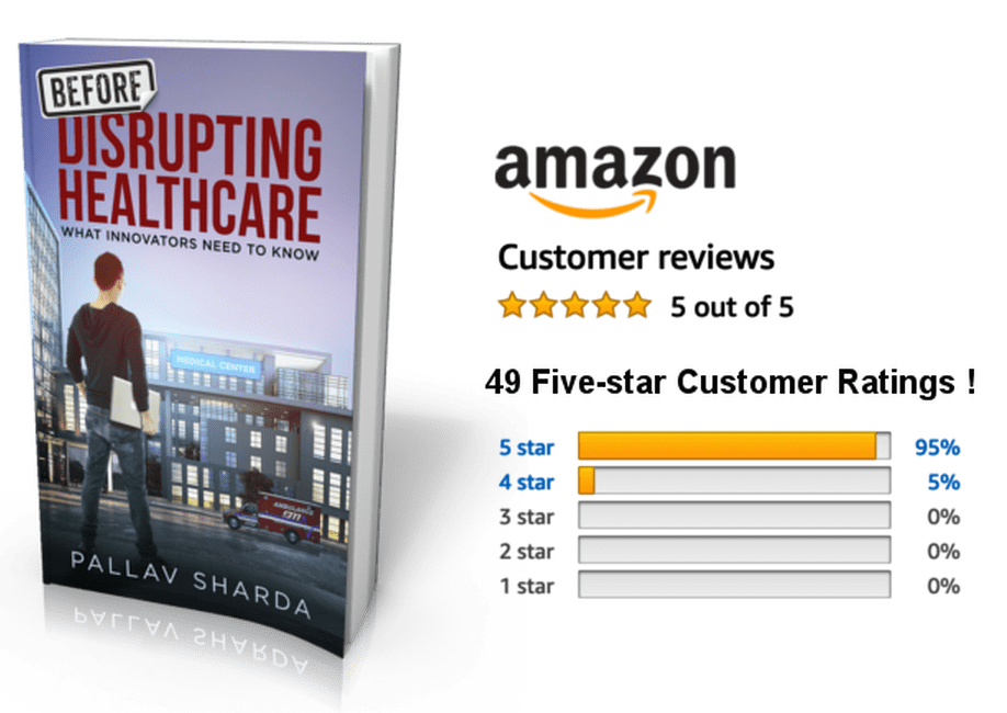 Before Disrupting Healthcare - Find it on Amazon