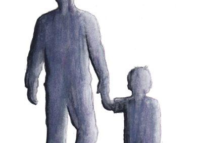 Father-Son (Watercolor, 2017)
